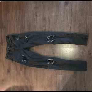 Top shop skinny ripped jeans
